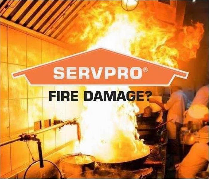 Flames with the SERVPRO logo
