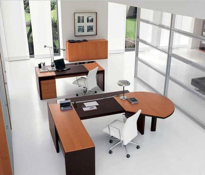 a clean office
